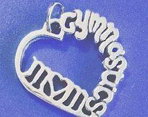 Gymnastics Jewelry Gymnastics Charm Gymnastics Mom Heart Gymnastics Gifts