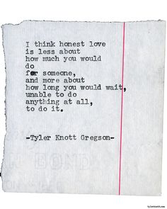 Typewriter Series #1991 by Tyler Knott Gregson