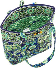 Vera Bradley Rhythm & Blues Fabric Tote from Barnes and Noble.