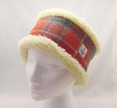 Harris Tweed Head Warmer - lined in soft, faux sheepskin.  https://www.facebook.com/thelittlestitchcompany?ref=hl