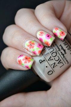 Nails by Kayla Shevonne: Summer Floral Nail Art