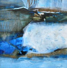"""Renate Migas, """"Scheinbar Blau-III""""  Mit einem Klick auf """"Als Kunstkarte versenden"""" versenden Sie kostenlos dieses Werk Ihren Freunden und Bekannten."""