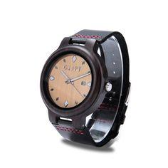 6fe73e7a9 GNART Mens relojes Top marca de reloj de madera de bambú relojes con correa  de cuero