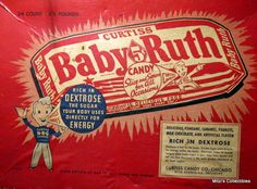 1920'S+Advertising | out this baby ruth candy box from the 1920 s