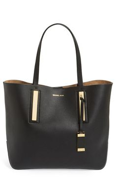 Free shipping and returns on Michael Kors 'Large Jaryn' Leather Tote at Nordstrom.com. Ultra-sleek modern hardware perfectly complements a clean-lined leather tote with a capacious interior for all your can't-live-without essentials.
