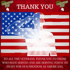 THANK YOU VETERANS.Give thanks and respect to those who have served and continue to serve to honor, protect and fight for our freedom as Americans of the United States of America!The greatest country in the world.Thank you. Thank you.Save
