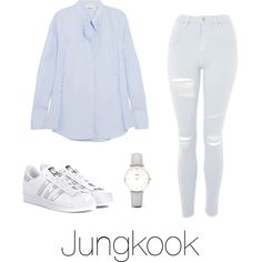 Fan signing with Jungkook by infires-jhope on Polyvore featuring polyvore, fashion, style, 3.1 Phillip Lim, Topshop, adidas Originals, CLUSE and clothing