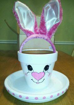 Holidays/recipes:  http://www.pinterest.com/kistin/ Clay pot bunny
