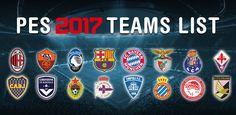 Pes 2017: La lista dei veri nomi delle squadre dei campionati europei da cambiare. I nomi reali della squadre da sostituire in Pro Evolution Soccer 2017.