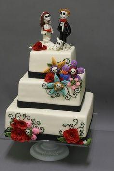 Mexican style dia de Los muertos wedding cake