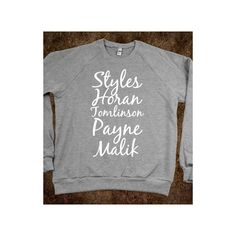 Last Names Of One Direction found on Polyvore