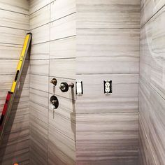 Our Georgette in 6x24 color light #shower #walls and outside large wall opposing wall 12x24 #Georgette #Pearl all #Italian  #Porcelain #Tile only  at SANTA ROSA MARBLE #tileaddiction @santarosamarbletile #remodel #bathroom #custom #perfection #like4like #hgtv #designer #interiordesign #madeinitaly santarosamarble.com 3635 NW 78th Avenue Doral Fl 33166 305.591.3744 by santarosamarbletile