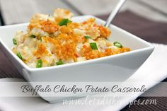 Impress your family and whip up this delicious chicken potato casserole for dinner. Rich, spicy buffalo taste combined with buttery, creamy cheese and crunchy RITZ crackers makes for a flavorful, mouthwatering dish. Just watch how quickly it disappears!