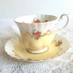 Vintage Royal Albert Tea Cup and by MariasFarmhouse on Etsy, $100.00  ONE FOR ME....PROBABLY NOT THE RIGHT SHAPE, OH WELL.