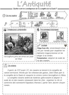L'Antiquité La conquête de la Gaule Learning Process, Kids Learning, Flags Europe, French History, Art History, Teachers Corner, French School, History Projects, Teaching French