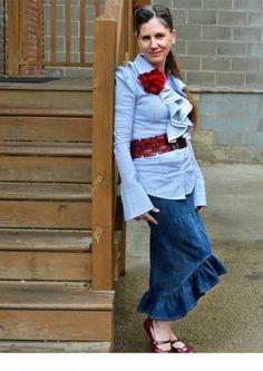 I Love My Jean Skirt