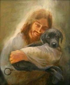 Jesus holding a puppy best captures how I feel about puppies.and Jesus! All Dogs, I Love Dogs, Puppy Love, Dogs And Puppies, Doggies, Images Du Christ, Pictures Of Christ, Image Jesus, Animals And Pets