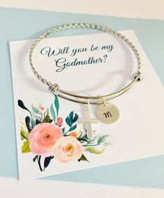Will you be my Godmother Godmother Bracelet Godmother Jewelry...