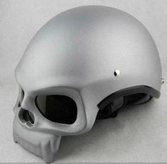 Icon Grey Skeleton Skull Motorcycle Helmet
