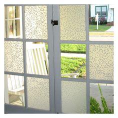 window film, clovers, adhes film, back doors, decorating ideas, decals, window panes, window treatments, bathroom windows