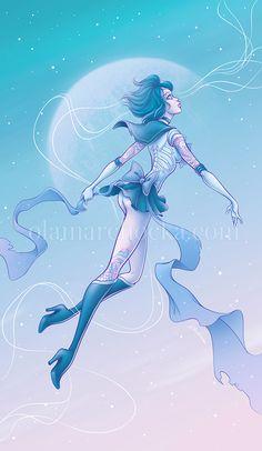 Sailor Mercury Undead by aleksandracupcake on DeviantArt Sailor Saturn, Sailor Moon Art, Sailor Mercury, Art Programs, Disney Characters, Fictional Characters, Art Pieces, Deviantart, Disney Princess