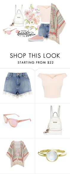 """Sipping in The Sun"" by vishkah ❤ liked on Polyvore featuring Miss Selfridge, GUESS, River Island, Zoe & Morgan, Vans, Summer, Pink, teen and sneakers"