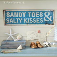 Sandy Toes... Metal Sign