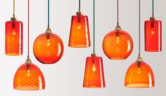Rothschild & Bickers' Pick-n-Mix Glass Pendants: Remodelista; LOTS TO CHOOSE FROM: DIFFERENT COLORS, SIZES,SHAPES