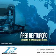 Entregamos em diversas regiões do Brasil.  Conheça nossa área de atuação:  http://www.pittexpress.com.br/atuacao-pitt-express.html