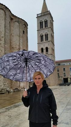 President of Croatia, Kolinda Grabar-Kitarovich visiting Zadar after torrential rain that flooded the area (september 2017.)