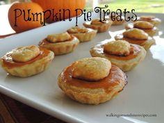 Pumpkin Pie Treats from Walking on Sunshine are part of our 20 Delicious Pie Dishes hand picked from The Weekend re-Treat #linkparty and featured on The Best Blog Recipes!  #dessert #pie #thanksgiving #recipes