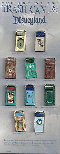 Disneyland Full Set of 10 Trash Can Pins.. I LOVE this pin set