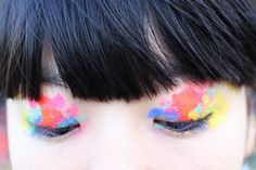 dabs of Topshop eye make-up by Louise Gray on Susie Lau