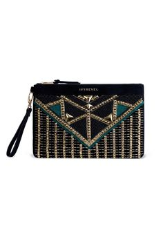 Ivy Revel clutch Embroidered Bag, Baggage Claim, Fasion, Women s  Accessories, Ivy, f252674ed6