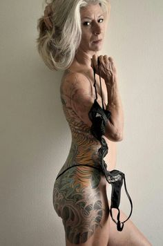 What are my tattoos gonna look like when I'm 70? Freaking bad ass that's what! Def hope I look like her when I'm her age!