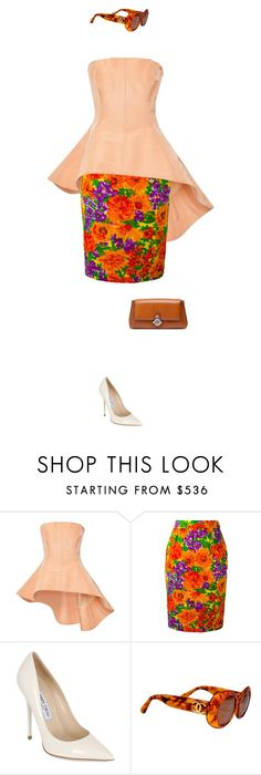 """""""lead me into your heart"""" by clue ❤ liked on Polyvore featuring Rosie Assoulin, Givenchy, Jimmy Choo, Chanel and Balenciaga"""
