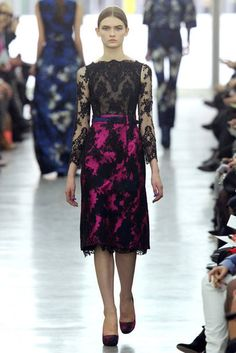 Flowers and lace, lovely. Erdem Fall '12...love this one!