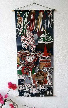 beau mur de tapisserie tenture en coton, la raison est un mélange amusant de raisons trtadicionales de personnage principal sonde sont le célèbre