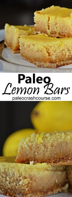 Tasty paleo lemon bars that make for a fantastic snack. They take about 60 minutes to prepare and cook so make sure you have a bit of time on your hands. They're so well worth the time and effort!