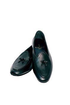 Rubinacci Marphy black leather loafer