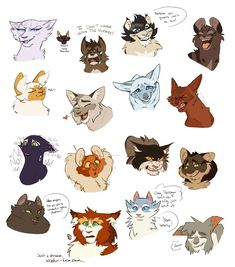 More Clouded Moon Expressions! by Simatra on DeviantArt Warrior Cats Comics, Warrior Cat Memes, Warrior Cats Fan Art, Warrior Cats Books, Warrior Drawing, Warrior Cats Art, Cat Comics, Death Note Fanart, Fox Dog