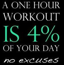 a 1 hour workout is 4% of your day #fitfluential