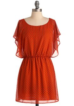 A simple, bright dress that would look great with brown/tan boots // ModCloth, $44.99 #fashion