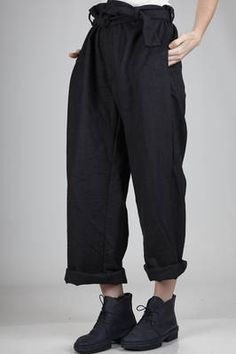 Daniela Gregis | man wide trousers in washed wrinkled wool | #danielagregis