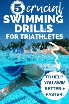 Swim Training, Triathlon Training, Training Plan, Swimming Drills, Triathlon Swimming, Swimming Workouts For Beginners, How To Swim Faster, Triathlon Women, Swimming Benefits