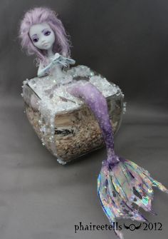 MH monster high repaint Lagoona Purple Mermaid by phairee004.deviantart.com
