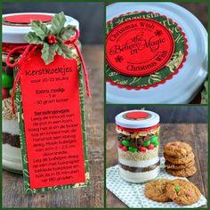Christmas cookies in a jar / Kerstkoekjes in een pot