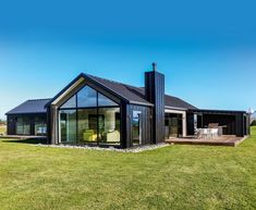 Modern Barn House, Barn House Plans, Dream House Plans, Modern House Plans, Modern House Design, Wood House Design, House Cladding, Facade House, House Exteriors