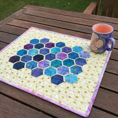 Wendy's quilts and more: It's Giveaway time and it's hexagons