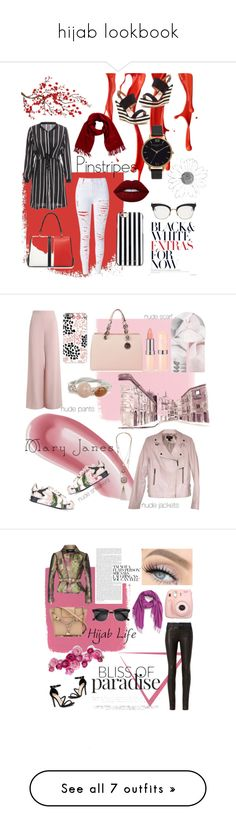 """""""hijab lookbook"""" by irahapsari ❤ liked on Polyvore featuring WithChic, Loro Piana, Lime Crime, Prada, Brewster Home Fashions, French Blu, Thom Browne, MICHAEL Michael Kors, Olivia Burton and Laura Mercier"""